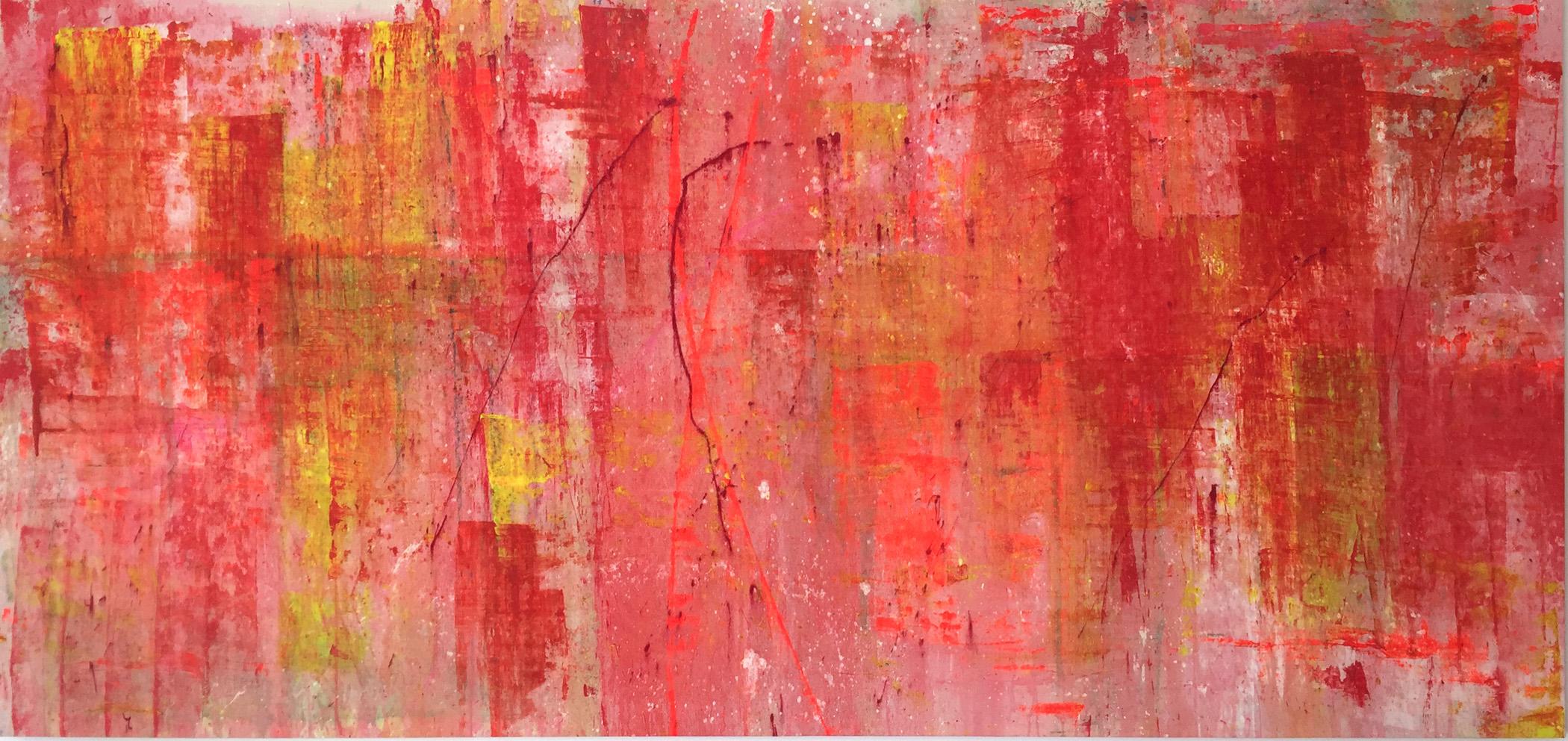 Qashqai, 2015, técnica mixta sobre lienzo, 283 x 130 cm.